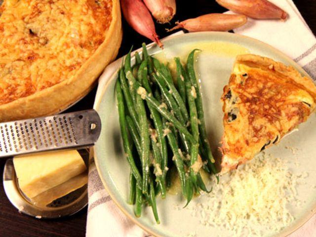 Quiche lorraine med grön bönsallad (kock Tommy Myllymäki)