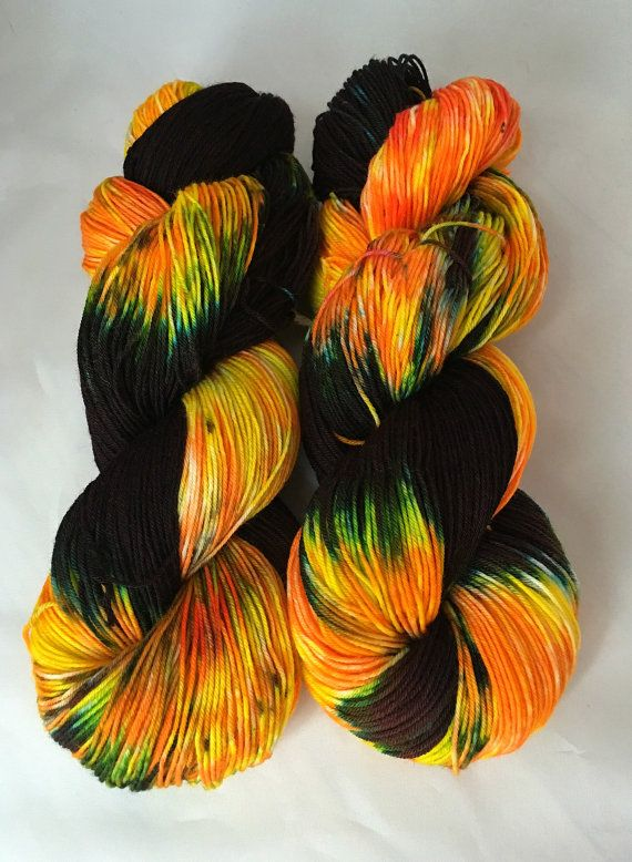 hand dyed wool yarn campfire yarn hand dyed by TheRainyAppleShoppe