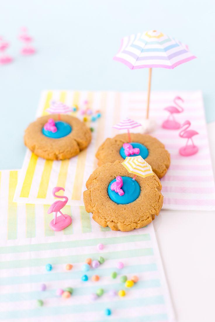 Chocolate Peanut Butter Beach Thumbprint Cookies