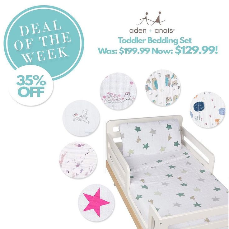 This week we're taking 35% off Aden  Anais Toddler Bedding Sets for our Lussobaby Deal of the Week. You'll get $70 off a flat sheet sewn to a fitted sheet a transitional pillow and case and a toddler dream blanket. All made from breathable 100% muslin cotton! Pick a set up in store or online - link in bio.  #kidsdesign #kidsdecor #kidsinspo #sale #adenanais #instakid #toddler #instagood #lussobaby #instamom #mom #interiordesign #shoplocal #vancouver by lussobabystore