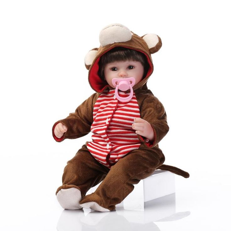 59.96$  Watch here - http://alijxq.worldwells.pw/go.php?t=32614331918 - New 42CM baby reborn dolls girls toys with cartoon clothes bonecas reborn de silicone kids birthday gift 59.96$