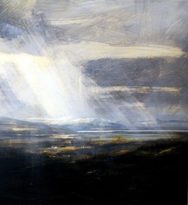 Loch Roag, Lewis (Detail) - Egg Tempera on Gesso Zarina Stewart -Clark