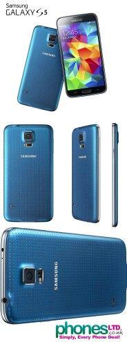 Samsung Galaxy S5 phone  Electric Blue