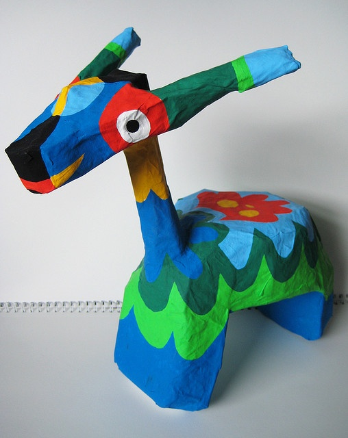 paper mache for upcoming shows by mumblion, via Flickr