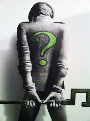 The Riddler // maybe if they make a Nightwing movie...he could be the villain....but not a Jim Carrey Riddler again...please...