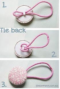 Recicla botones para el pelo