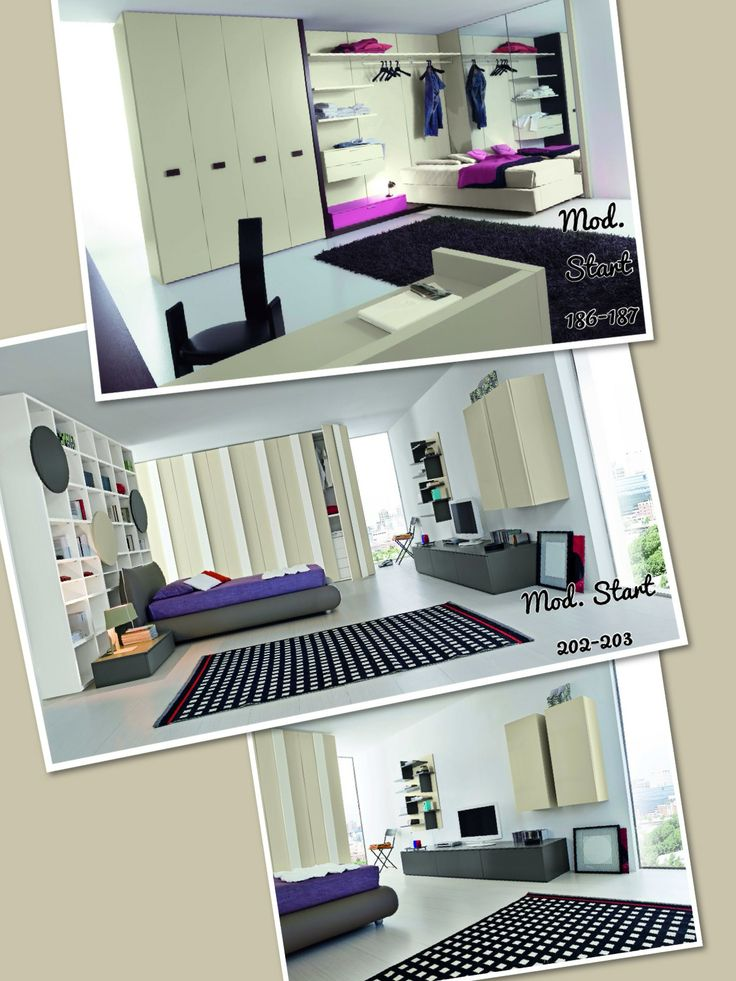 7 fantastiche immagini in Modern Bedrooms with single beds - Camere ...