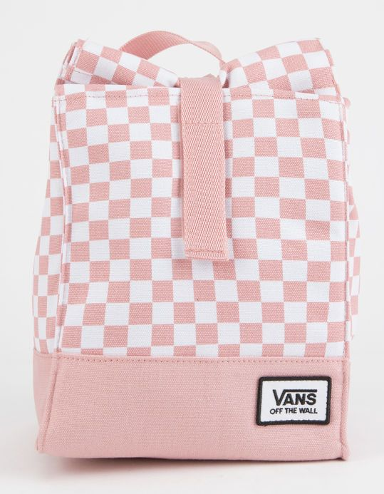 13ba862442cc VANS Mow Pink Checkerboard Lunch Bag | Backpack in 2019 | Pink ...