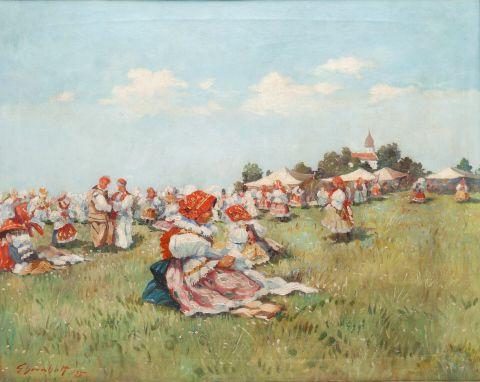 Ehrenhaft Ludvík (1872–1955) | Na pouti, 1935 | Aukce obrazů, starožitností | Aukční dům Sýpka