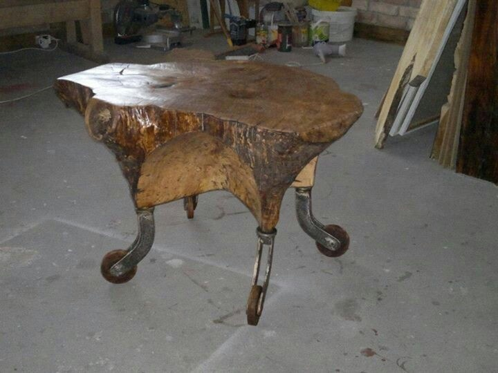 Coffe table - hand made from one peace of wood