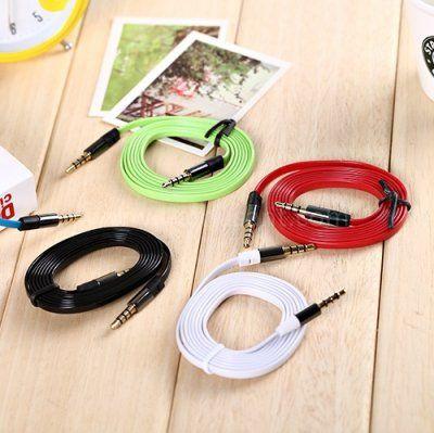 Câble audio Jack 3.5 mm stéréo mâle/mâle pour iPhone,iPad,iPod - 1M