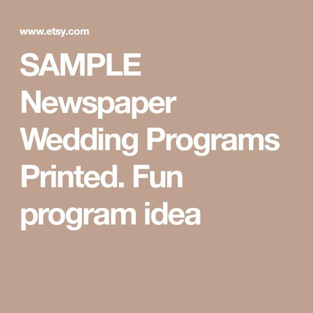 The 25+ best Wedding program samples ideas on Pinterest Wedding - sample advertising timeline