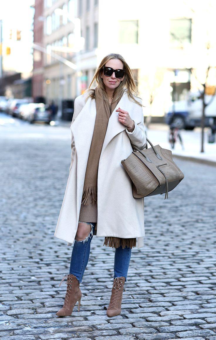 The Camel Scarf: My Top 5 Favorites by Brooklyn Blonde - Coat: Mango | Cardigan: ASOS | Denim: Levis | Boots: Jeffrey Campbell | Scarf: River Island | Sunglasses: Celine | Bag: Celine Phantom February 8, 2017