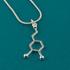 Dopamine Molecule Necklace