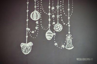 Święta na tablicy/ Christmas Chalkboard Art