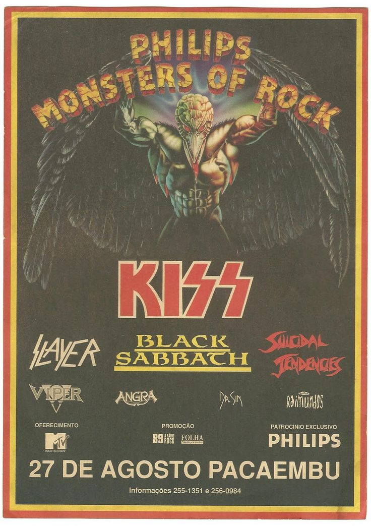 Monsters of rock concert posters | do poster e o link das historias e anos que teve o monster of rock ...
