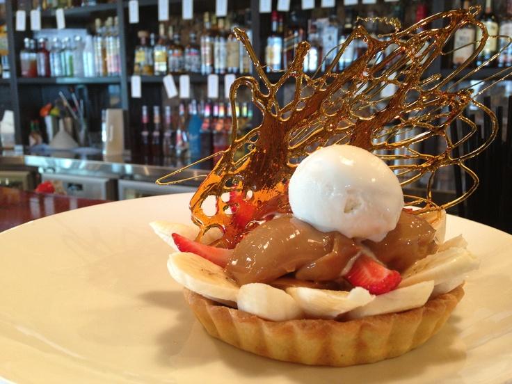 Banoffee Tart w/ caramel, fresh banana & vanilla icecream. Available @ The Quarie.