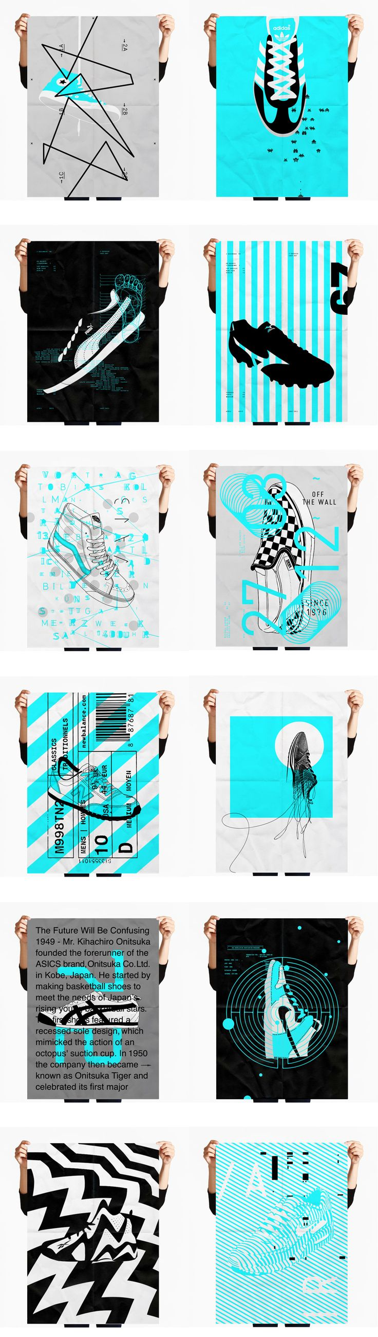 Poster design and printing - Personal Project Screen Printing Sneakers Poster Series