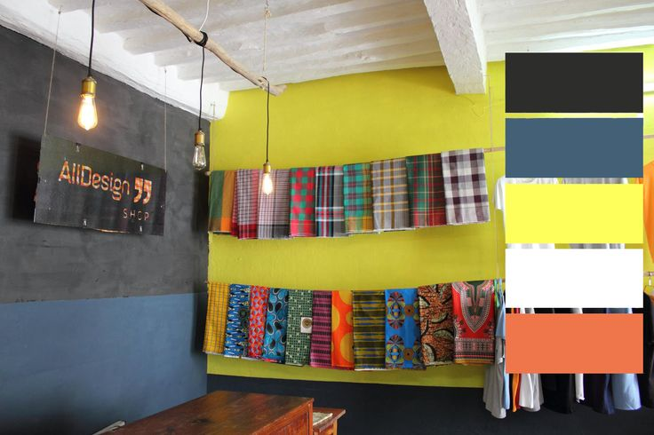 At All Design Shop in Ilha de Moçambique (Omar's birth place) African Prints in Interior Design #colorpallet #color_pallet #yellow #Africanprints #African_prints #capulanas #capulana menswear inspiration, colorful, fashion, street style, #africainspired #prints #waxprint #africanfashion #friday #fridayinspiration #vlisco #africanprint #fashion #style #accessories #apif #apifrocks #t-shirt #shirt #InteriorDesign #Interior_Design #industrial_design #industrialdesign #design