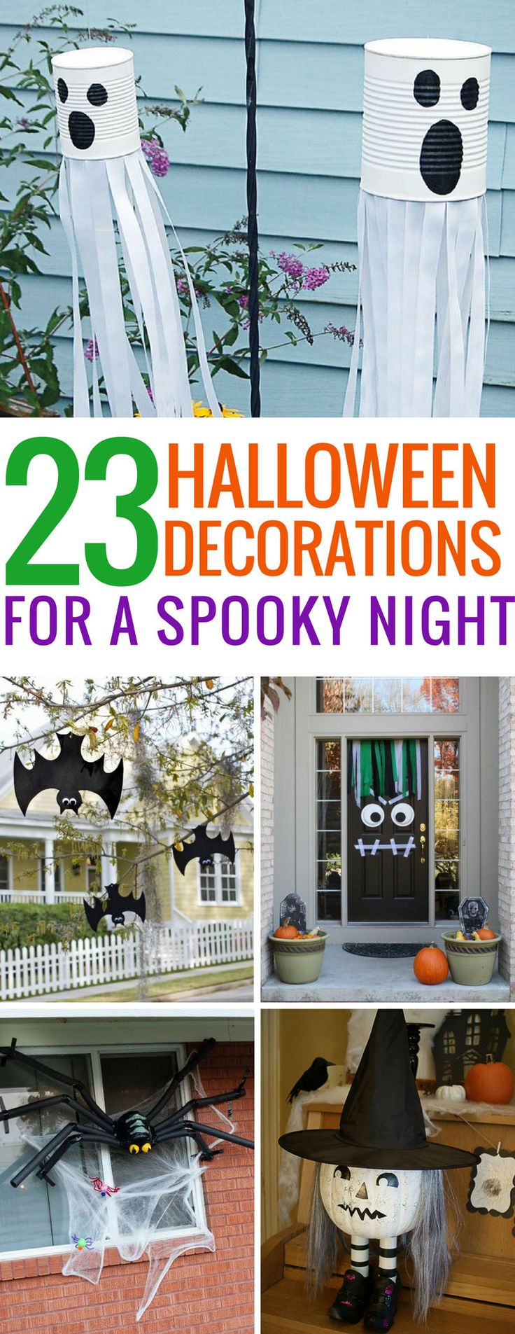 loving these homemade halloween decorations the kids will have a blast decorating our home for - At Home Halloween Decorations