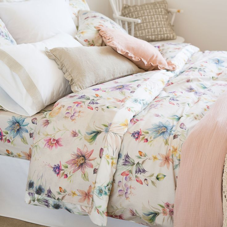 Multicoloured Floral Print Bed Linen
