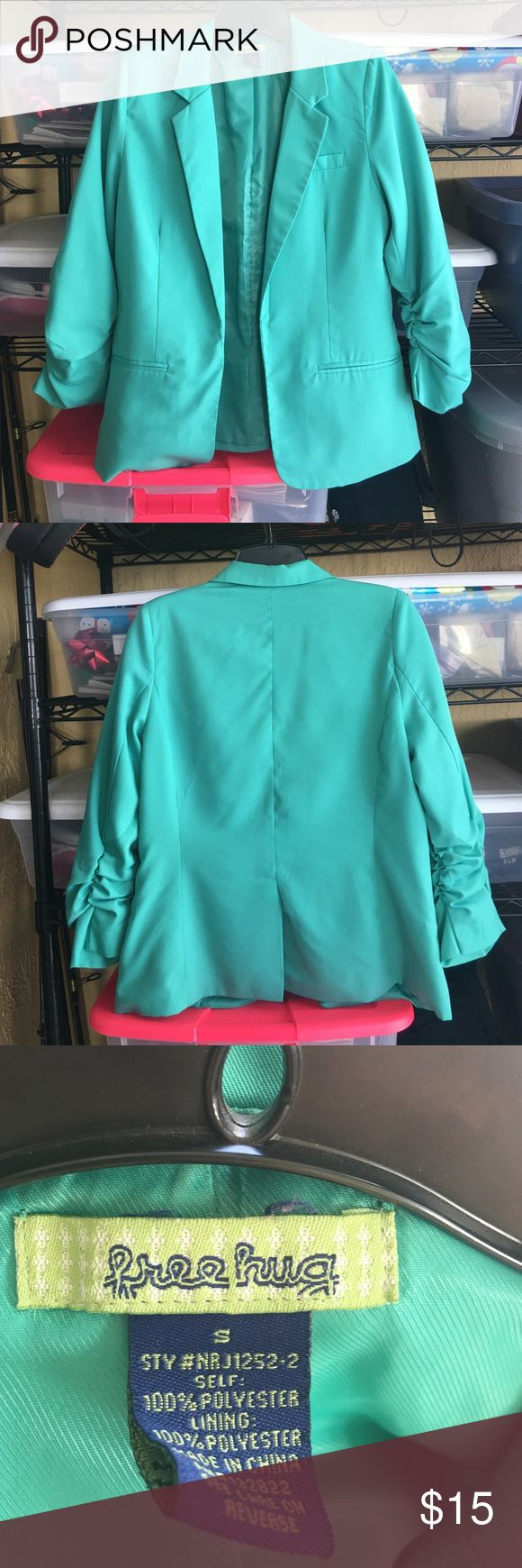 Mint Green 3/5 Sleeve Blazer Fits true to size and has only been dry cleaned and worn a few times. Jackets & Coats Blazers