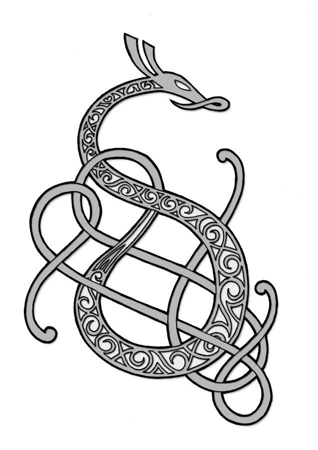 viking dragon tattoos - Google Search                                                                                                                                                                                 More
