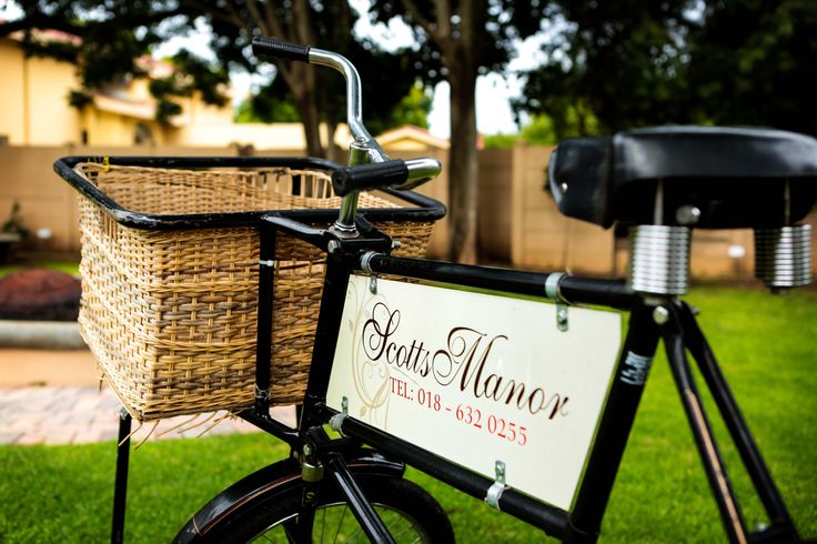 Scott's Manor  weddings & Conference special delivery bicycle