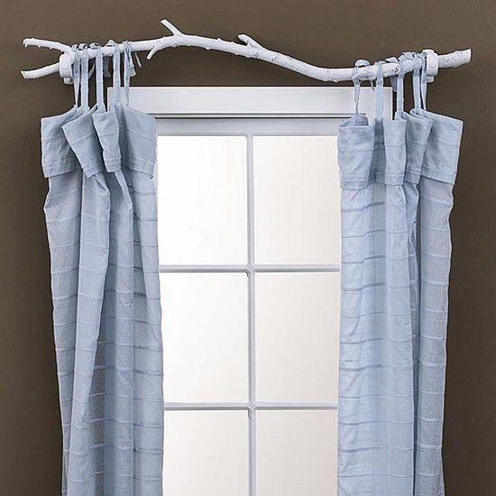 tree branch curtain rod