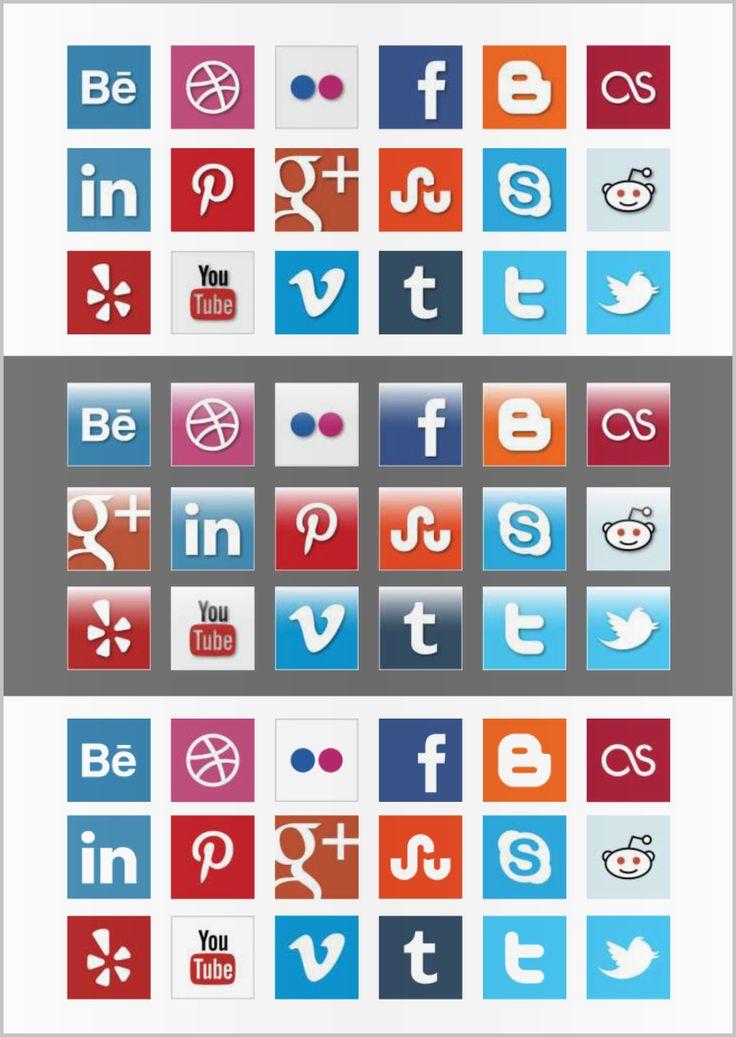 Social Media Iconen set 3. De iconen zijn ook ideaal te gebruiken voor een origineel CV MooiCV format.
