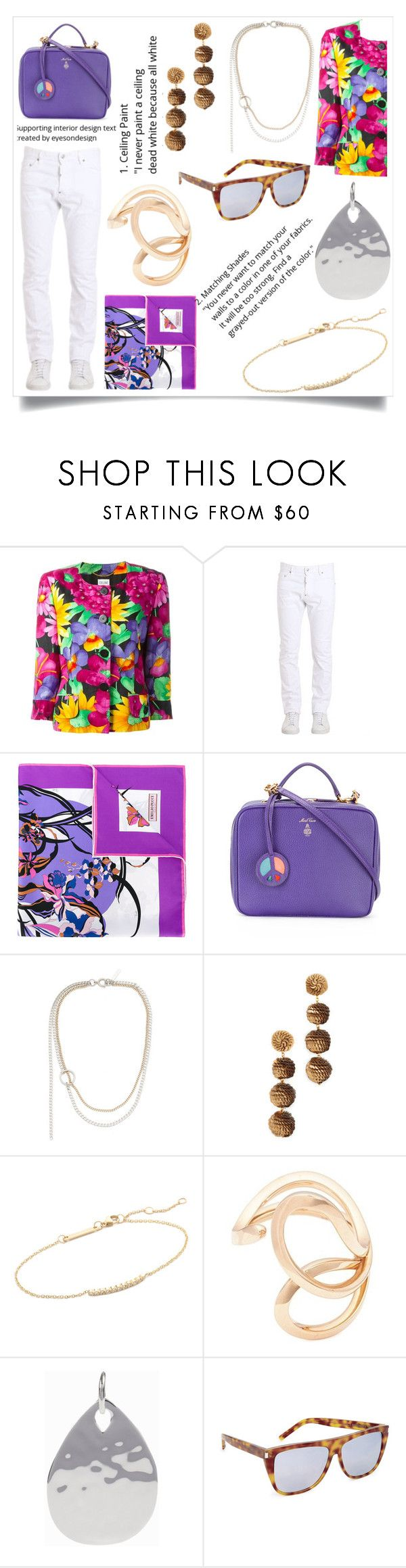 """""""Lead in the dress"""" by emmamegan-5678 ❤ liked on Polyvore featuring Dsquared2, Emilio Pucci, Mark Cross, Justine Clenquet, Deepa Gurnani, ZoÃ« Chicco, FerrariFirenze, Monica Vinader, Yves Saint Laurent and modern"""