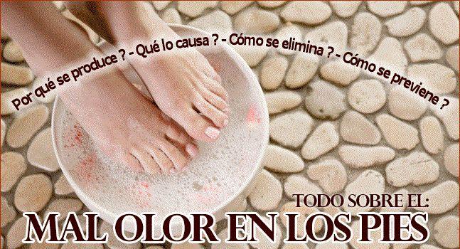 ELIMINAR EL MAL OLOR EN LOS PIES PARA SIEMPRE Vale la pena comenzar resaltando que la principal causa del mal olor de los pies es la sudoración, y aunque en sí mismo el sudor es inoloro,