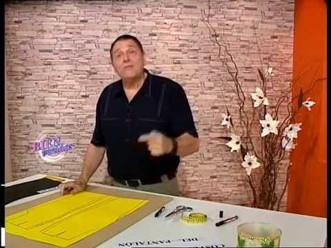 Explica el MOLDE DEL PANTALON .  Hermenegildo Zampar - Bienvenidas TV - Explica el Molde del Pantalón.