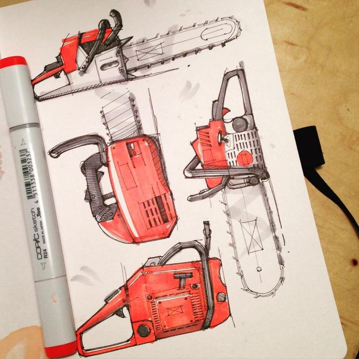 """#chainsaw #industrialdesign #id #sketching #drawing #copic #airship #sketchbook"""
