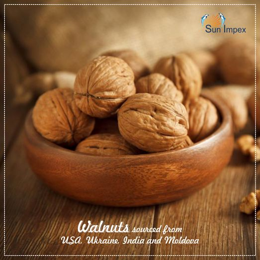 !!!!! WALNUTS !!!!!  Walnuts are rounded, single-seeded stone fruits of the walnut tree. The walnut fruit is enclosed in a green, leathery and fleshy husk. At Sun Impex . we offer walnuts sourced from USA, Ukraine, India and Moldova. Walnut is used in different industries and is also mixed in snack products as well.  To get the same, visit : http://bit.ly/Walnut_SunImpex