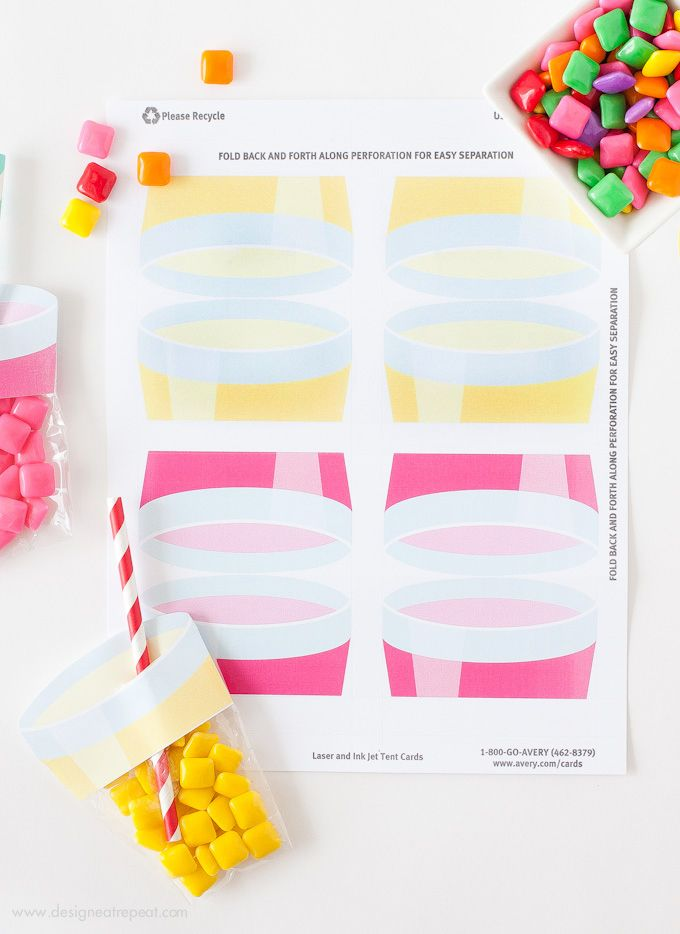 Printable Lemonade Party Favors | http://www.designeatrepeat.com/2014/06/printable-lemonade-party-favors/