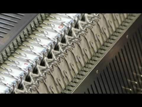 Жемчужная и английская резинка на вязальной машине Сильвер - YouTube