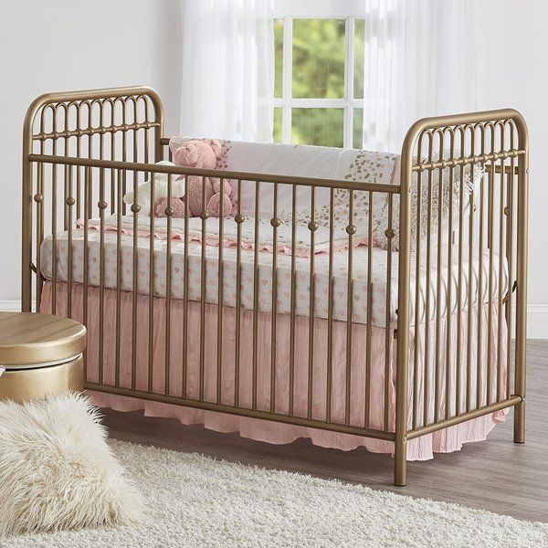 Inspired by antique wrought iron cribs, the Monarch Hill Ivy collection is styled along Victorian lines, with gently arched tubes and beautifully crafted ball castings on the spindles. Non-toxic, painted steel tubes are smooth and strong. They will resist scuffs and scratches while providing stability at every mattress height. Mattress support is adjustable so children are safe and easy to reach as they grow. Like all Little Seeds products, this purchase helps support a major environmental…
