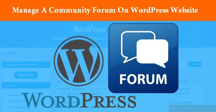 How Can You Manage A Community Forum On WordPress Website?