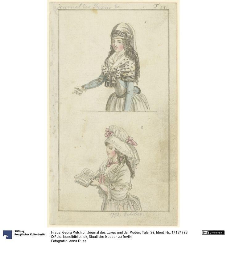 SMB-digital   Journal des Luxus und der Moden, Tafel 28, October 1793.