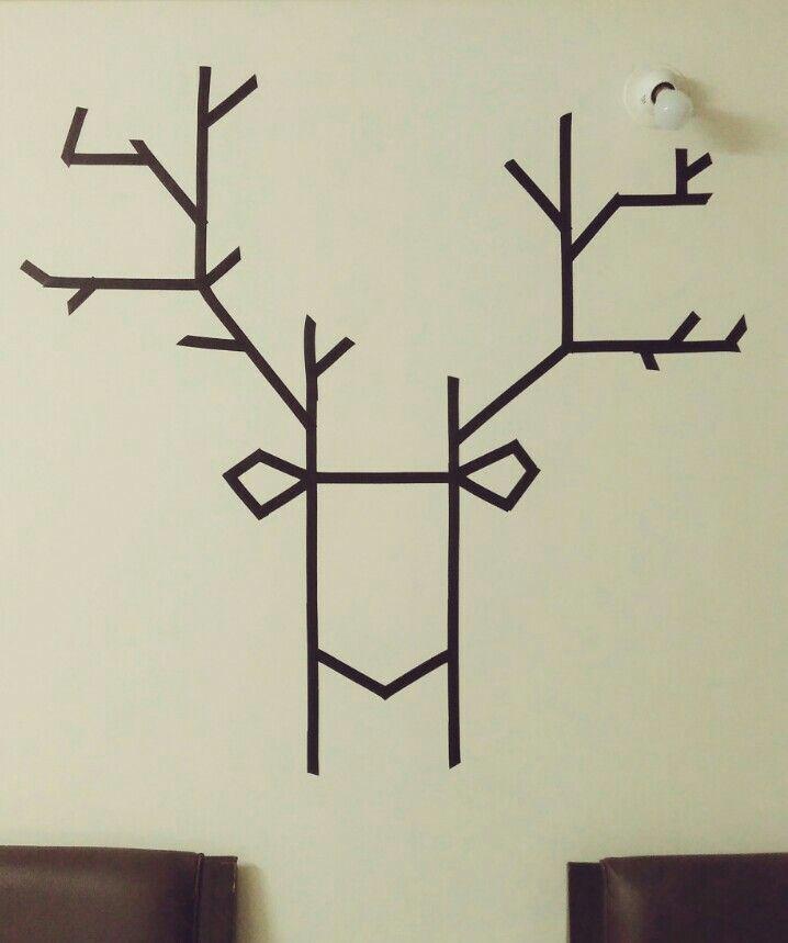 DIY electrical tape wall art
