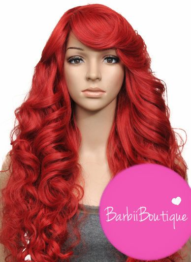 Sexy Heat Safe Long Red Celebrity Rihanna Full Wig...Great Addition To Any Halloween Costume Poison Ivy Mermaid ...Great Everyday Look ..
