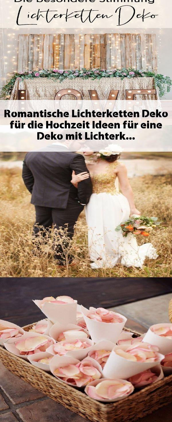Romantische Lichterketten Deko für die Hochzeit. Ideen für eine Deko mit Licht…