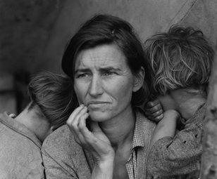 Recolectores de legumbres indigentes en California: madre de siete hijos, treinta y dos años de edad, Nipomo, California. Madre migrante.