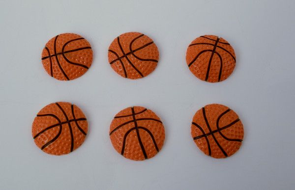 Basketball Resin sports Cabochons Flat Backs Scrapbook Hair Accessory making Supplies Embellishments