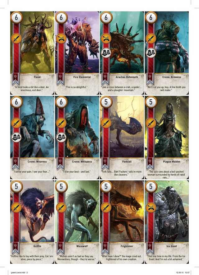 Complete Printable Gwent Cards Now In High Res And Extra Sheets For Backsides And Duplicates Playing Cards Design Steampunk Characters Card Art
