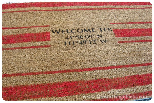 DIY GPS door mat for the geek in your life... father's day?