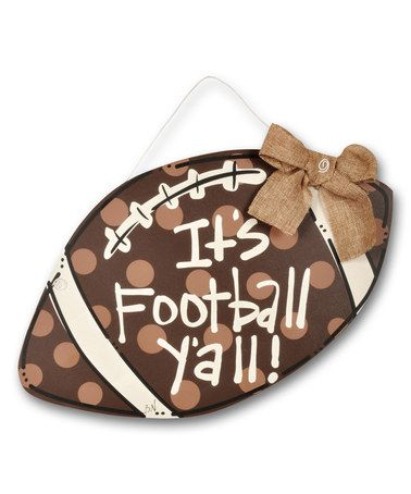 Another great find on #zulily! 'It's Football Y'all' Wood Door Hanger #zulilyfinds