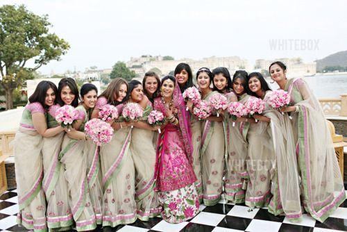 bridesmaid sarees