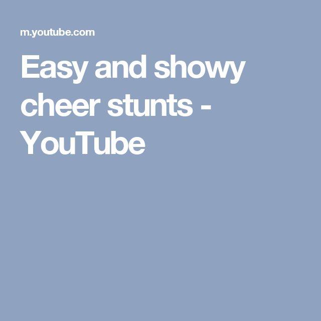 Easy and showy cheer stunts - YouTube